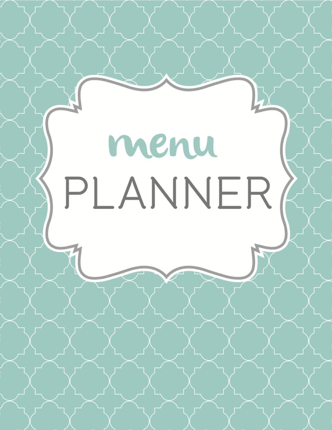 planner cover page