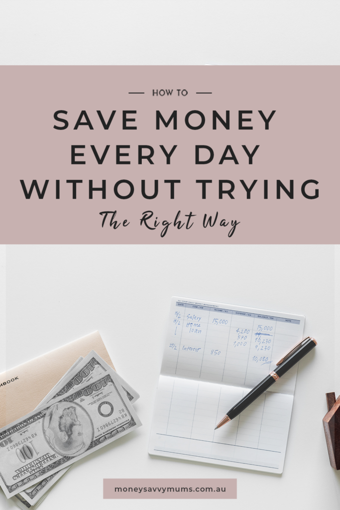 save money quickly