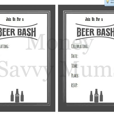 Beer Bash Inviteswater